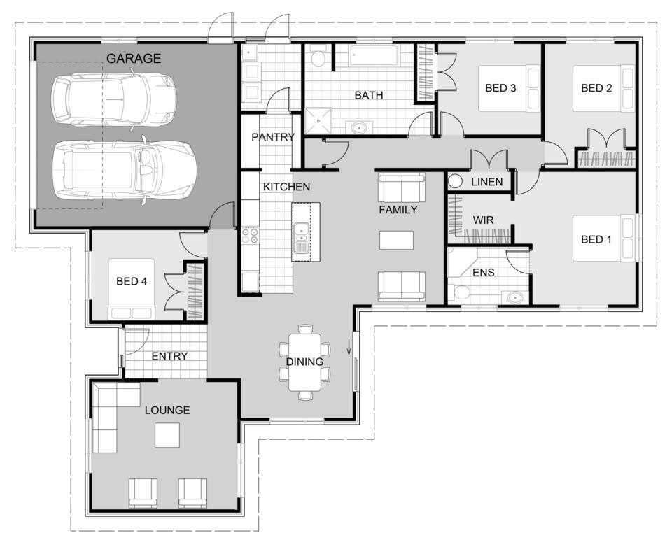 4 Bedroom family home plan