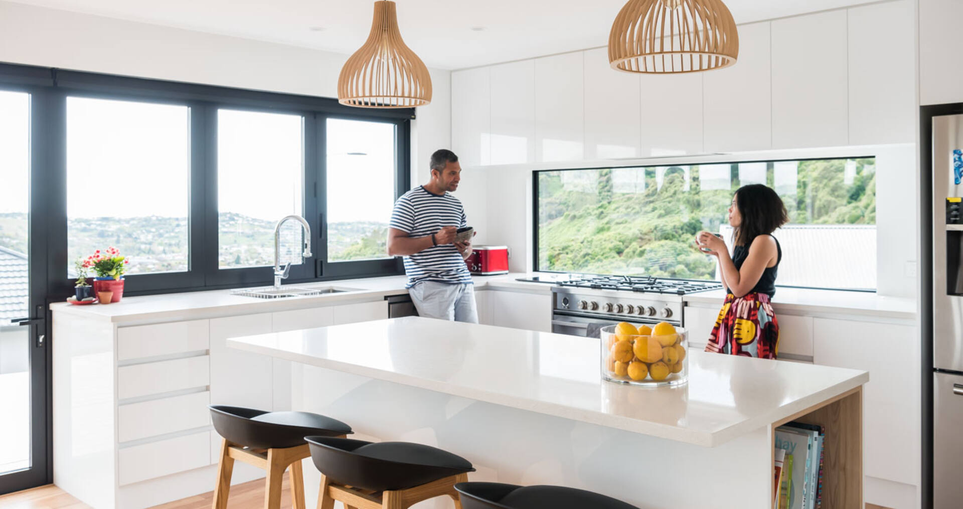 How these first-home owners created a contemporary family haven
