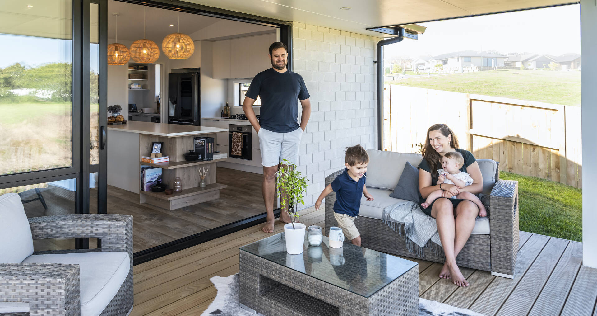How this family expertly built their stylish first home with resale in mind