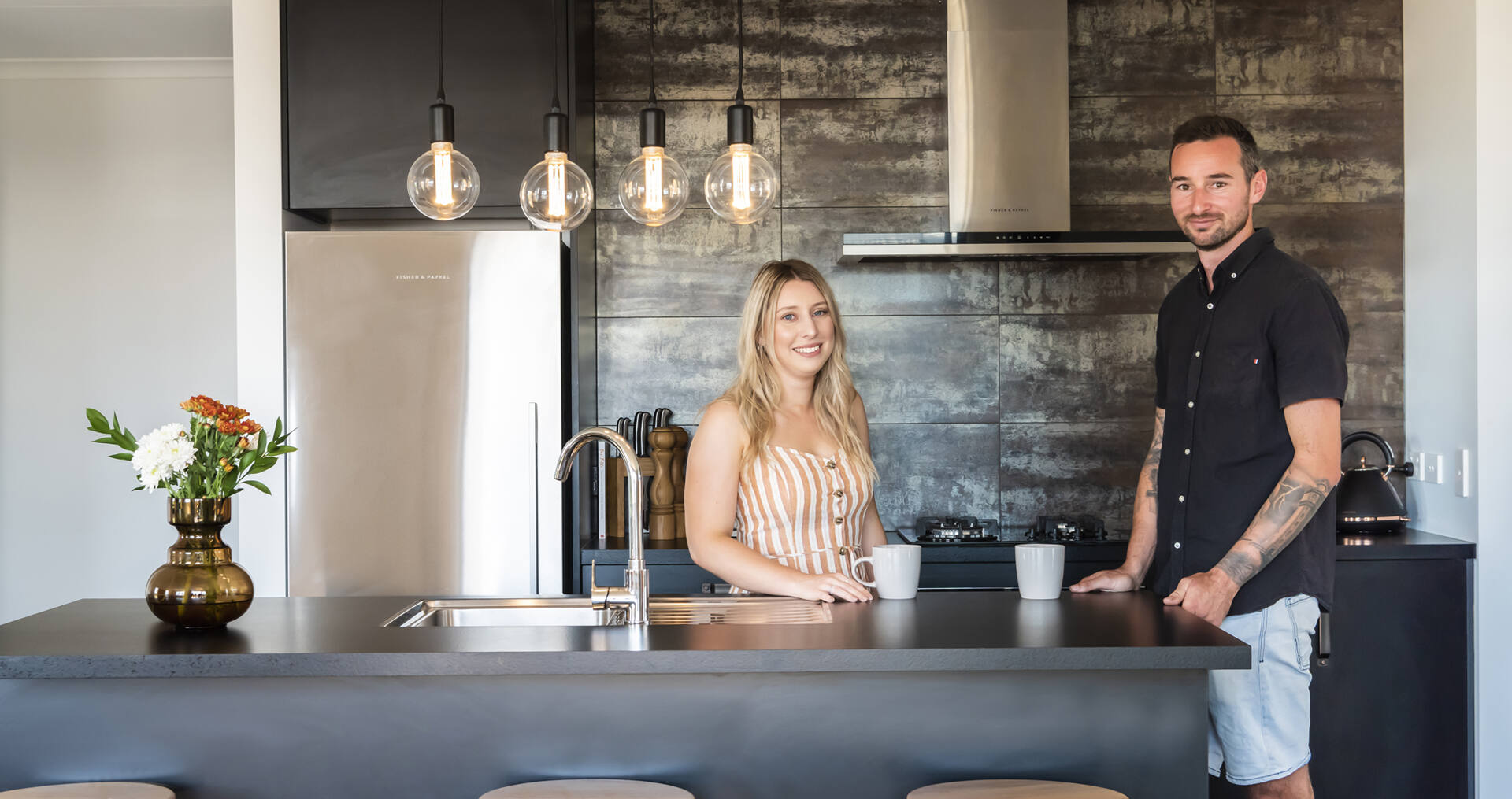 How these first home buyers added their own design flair to a new build